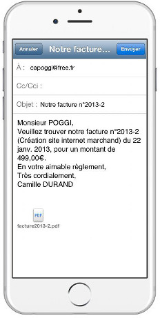 Facturation avec Dux-facti pour IOS, iPhone and iPad