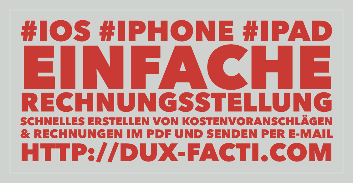iphone ipad ios app Einfache Rechnungsstellung