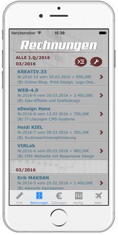 iPhone iPad App / Kostenvoranschläge und Rechnungen mit dux-facti