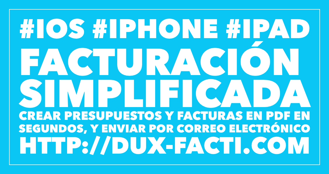 facturacion simplificada iphone ipad ios facturas presupuestos