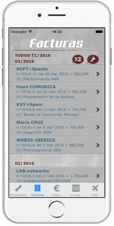 lista de facturas dux-facti ios android app